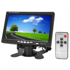 7-TFT-LCD-Digital-2-CH-Rearview-Monitor-w-Remote-Controller-Black