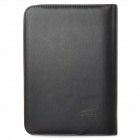 ZJ-5922 Loose Leaf Notebook w/ 8-digit Calculator Artificial Leather Zipper Cover - Black