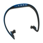 Deportes MP3 Player / Headphone w / Mini USB / TF ranura de la tarjeta - azul + gris