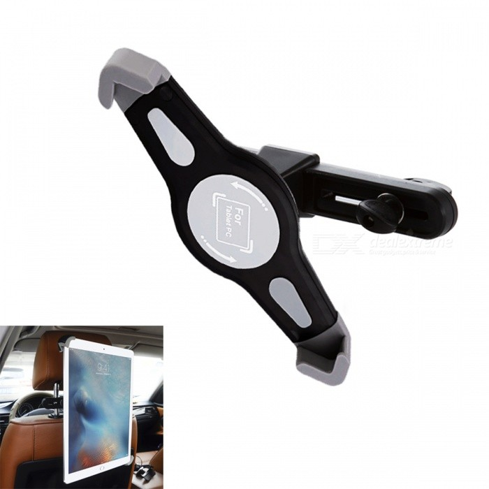 Buy 360' Rotation Car Seat Headrest Holder Mount for Ipad 1 / 2 / 3 / Most 9~11 Inch Tablet PC - Black with Litecoins with Free Shipping on Gipsybee.com