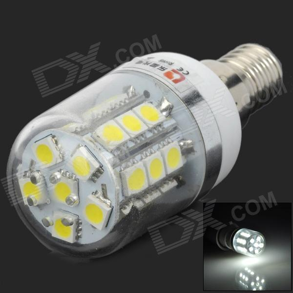 LeXing LX-YMD-055 E14 3W 200lm 7000K 27-SMD 5050 Cold White Light BulbE14<br>ModelLXMaterialPCForm  ColorWhiteQuantity1Power3WConnector TypeE14Emitter TypeLEDTotal Emitters27Color BINWhiteColor Temperature7000KWavelengthNPacking List1 x Bulb<br>