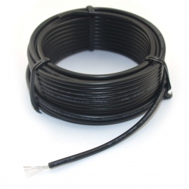 Jtron DIY Electric Wire Cable - Black (5 Meters)