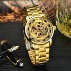 MCE 01-0060049 Hollow Analog Full-Automatic Mechanical Watch - Golden