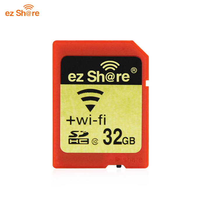 ez Share Wi-Fi SDHC Class10 Wireless Camera Card - Red + Golden (32GB)