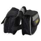 Ciclo al aire libre no tejido Tube Top Bike Bag Doble-Storage - Negro
