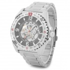 Wilon-Mens-Stylish-Skeleton-Dial-Analog-Mechanical-Wrist-Watch-Silver-2b-Black
