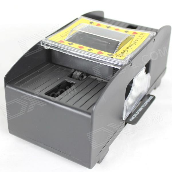 Poker Automatic Shuffler Machine - Transparent + Black + Yellow + Red (4 x AA)