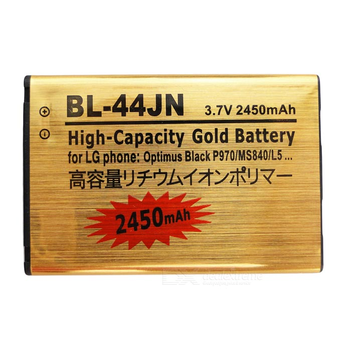 "BL-44JN -GD Replacement ""2450mAh"" Lithium Battery for LG - Golden"