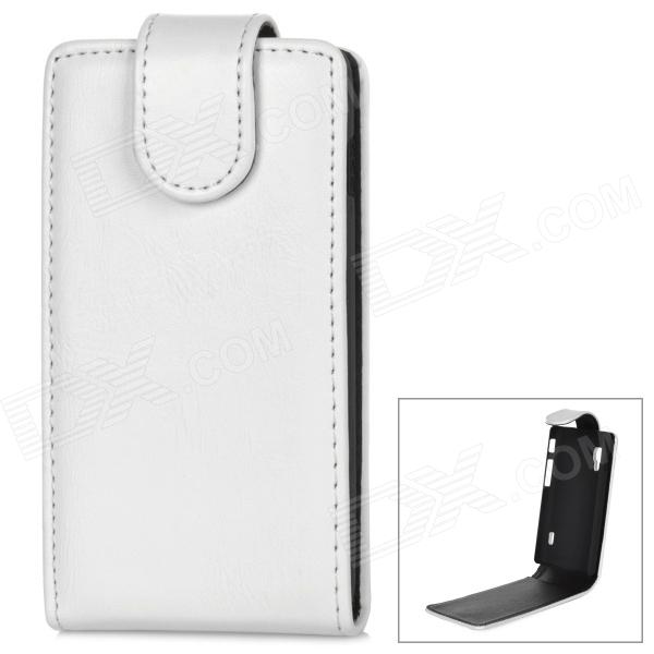 Stylish Protective PU Leather + Plastic Case for LG Optimus L5 II - White + BlackLeather Cases<br>ModelsLGMaterialPUForm  ColorWhiteQuantity1Compatible ModelsLGOther FeaturesProtectsPacking List1 x Protective case<br>