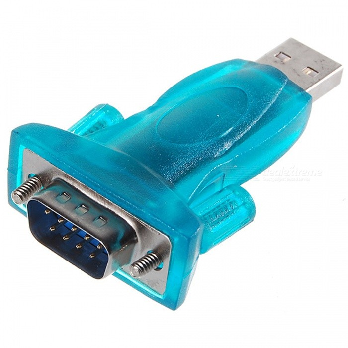 USB to RS232 Serial Port Adapter (Transparent Green)