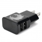 Universal AC Charging Adapter Charger w/ Dual USB for Iphone / Ipad / Ipod - Black (US Plug)