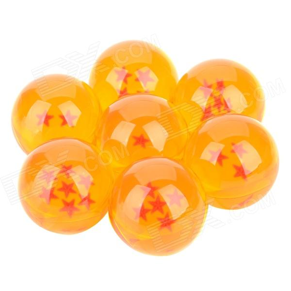 Buy Three-Dimensional Star Crystal Acrylic Balls Set - Orange (7 PCS) with Litecoins with Free Shipping on Gipsybee.com