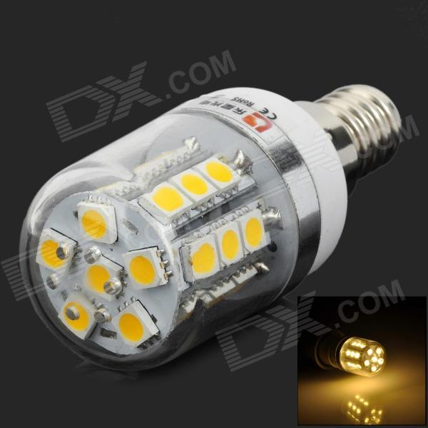 Lexing LX-YMD-052 3w 200lm 3500k E14 5050-SMD Warm White LED Corn Lamp - White + SilverE14<br>ModelLXMaterialPCForm  ColorWhiteQuantity1Power3WConnector TypeE14Total Emitters27Color BINWarm WhiteWavelengthNOPacking List1 x Lamp<br>