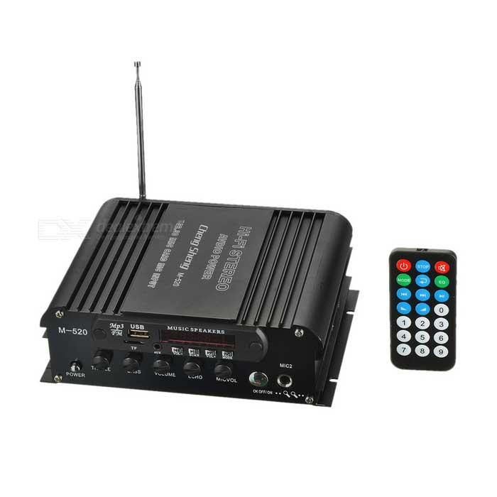 Buy M-520 Car Motorcycle Hi-Fi USB/SD/FM Digital Player Amplifier - Black with Litecoins with Free Shipping on Gipsybee.com