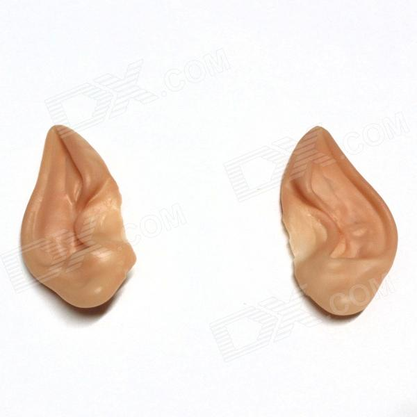 Buy Cosplay Accessories Silicone Elf Ears - Beige (Pair) with Litecoins with Free Shipping on Gipsybee.com