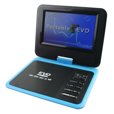 """FJD-760 Portable 7"""" LCD Mobile DVD Player w/ TV, FM, Card Reader, Game and USB - Blue"""
