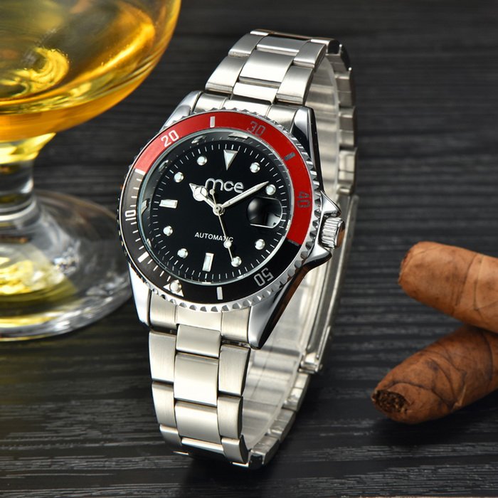 Buy MCE Fashion Scale Gear Dial Analog Automatic Mechanical Watch with Litecoins with Free Shipping on Gipsybee.com