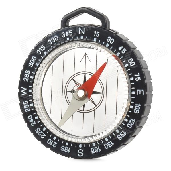 Outdoor Simple Strap Style Compass w/ Scale - Black