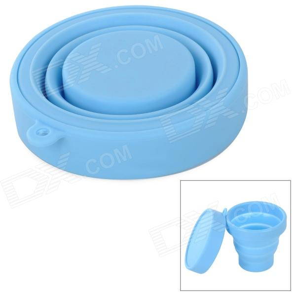 Outdoor Portable Silicone Telescopic Cup - Blue (200mL)