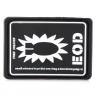 Free Soldier EOD Decorative Rubber Velcro Armband - Black + White