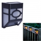 CMI 2-LED Warm White Solar Light / Lawn Lamp / Garden Light - Black + White