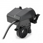 Adaptador de corriente impermeable de motocicleta Cigrette Lighter Socket - negro