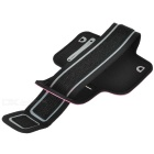 Sport-Gym Neopren + Stretch Cotton Armbandtasche für Iphone 5 / 5 s - dunkelrosa