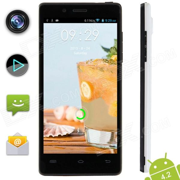 "XIAOCAI X9 Quad Core Android 4.2 WCDMA Bar Phone w/ 4.5"" OGS IPS, 1GB RAM, 4GB ROM, GPS - White"