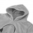 Casual Hoodie for Lovers - Grey (M / XL / 2 PCS)