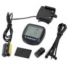 "INBIKE IC636 20-Function 1.5"" LCD Bicycle Wired Stopwatch - Black (1 x CR2032)"
