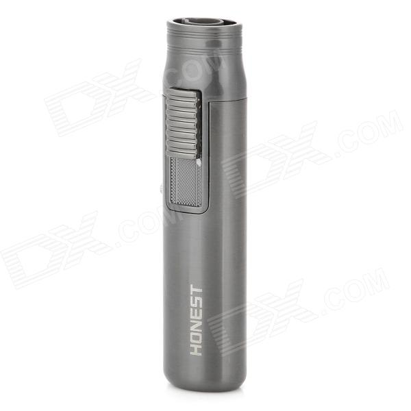 Buy Mini Windproof Blue Flame Butane Jet Lighter - Grey (3 x LR41 / 1300'C) with Litecoins with Free Shipping on Gipsybee.com