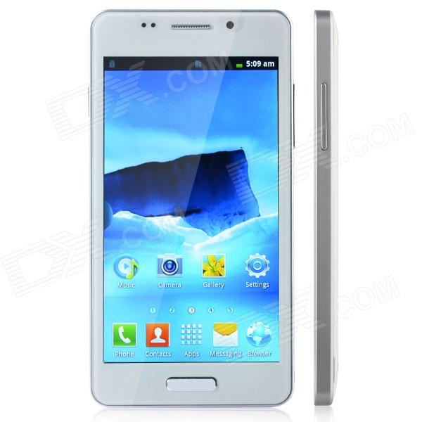 "L3-Note Android 2.3.5 GSM Bar Phone w/ 5.0"" Capacitive Screen, Wi-Fi, FM, and Quad-Band - White"