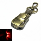 Car Style 2-LED Red Light Keychain - Bronze (1 x CR2032)