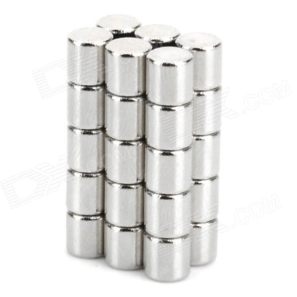 5 x 5mm Cylindrical NdFeB Magnet - Silver (30 PCS)