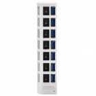 High-Speed-50Gbps-USB-30-7-Port-Hub-w-Individual-Switches-White