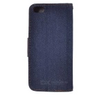 Denim funda protectora flip-abierto para Iphone 5C - Negro Azul Marrón +