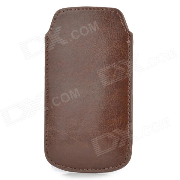 Protective PU Leather Case for Samsung i9190 Galaxy S4 Mini - BrownLeather Cases<br>ModelsSamsungMaterialPUForm  ColorBrownQuantity1Compatible ModelsSamsungOther FeaturesProtectsPacking List1 x Case<br>