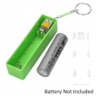 Universal 5V USB 1*18650 Battery Box Power Bank Case Enclosure - Green