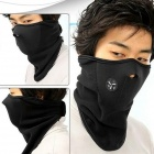 NUCKILY Outdoor Cycling Windproof Warm Fleece Face Mask - Black