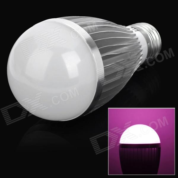 E27 7W 200lm 7-LED Pink Light Bulb Lamp for Plant Growth (85~265V)
