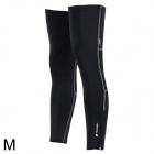 NUCKILY-F005-Sun-Protection-Bike-Cycling-Leg-Warmer-Sleeve-Black-(Size-M-Pair)