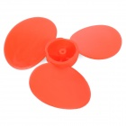 DIY Plastic 3-blade Propeller for Model Airplane / Boat - Red (3 PCS)