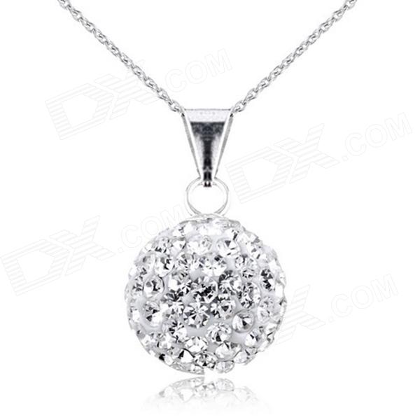 53c367179cd2c PSIW119C1 925 Sterling Silver Full Lucky Ball Pendant Necklace ...