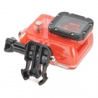 Protective Plastic Case w/ Lens for GoPro Hero 3 - Red + Black