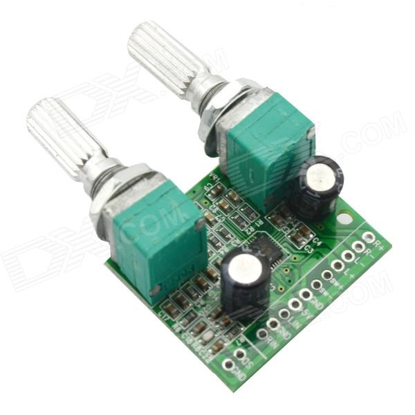 Jtron USB 5W + 3W 2.1-Channel Digital Audio Stereo Power Amplifier Board Module - Green (5V)DIY Parts &amp; Components<br>Model03100404Quantity1Form  ColorGreenMaterialPCBEnglish Manual / SpecYesPacking List1 x Amplifier Board<br>