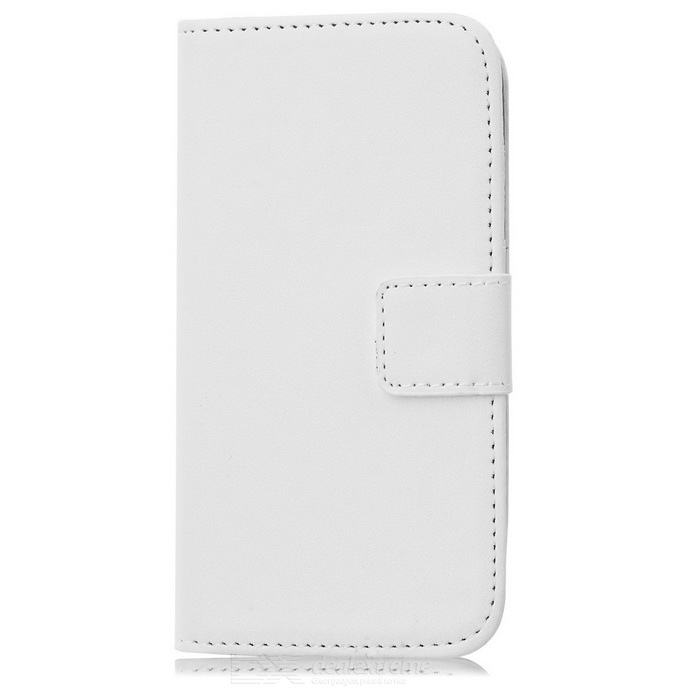 Wallet Style Protective PU Case for Samsung Galaxy S4 Mini i9190 - White