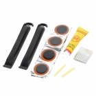 Convenient Portable Tyre Repairing Tool Kit Set for Bicycle - Black