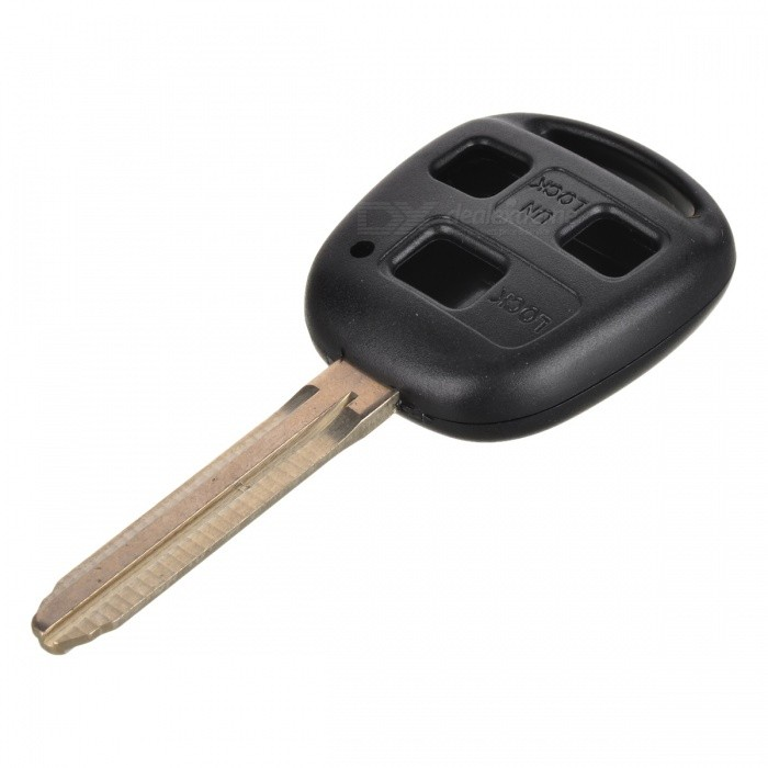 Buy 029876 Replacement Car 3-Button Remote Key Case for Toyota Camry - Black + Silver with Litecoins with Free Shipping on Gipsybee.com