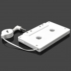 SL-79115 Car Audio Cassette Adapter for MP3 / MP3 / Cell Phones - White (3.5mm Plug)