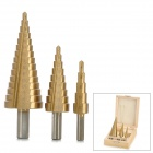 CMT 9243 HSS Steel Triangle Shank Step Down Drill Bits Set